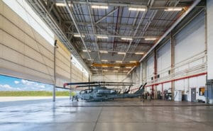 navfac helicopter hangar interior from side fort dix nj
