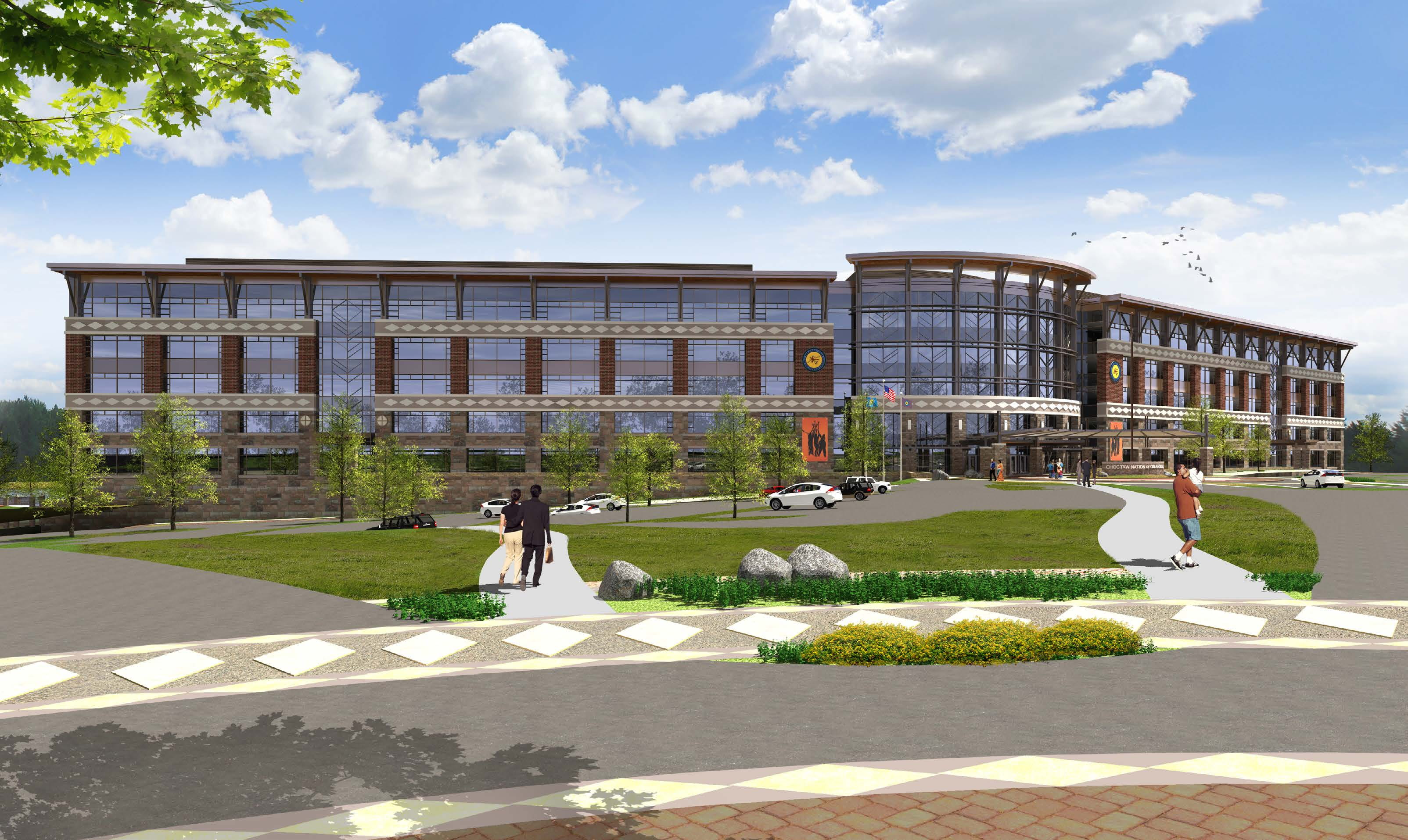 Coming Together Choctaw Nation Plans Five Story Hq In Durant Fsb