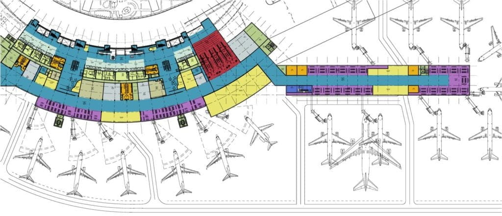 will rogers world airport map Fsb And Hok Design Expanded Terminal At Will Rogers World Airport will rogers world airport map