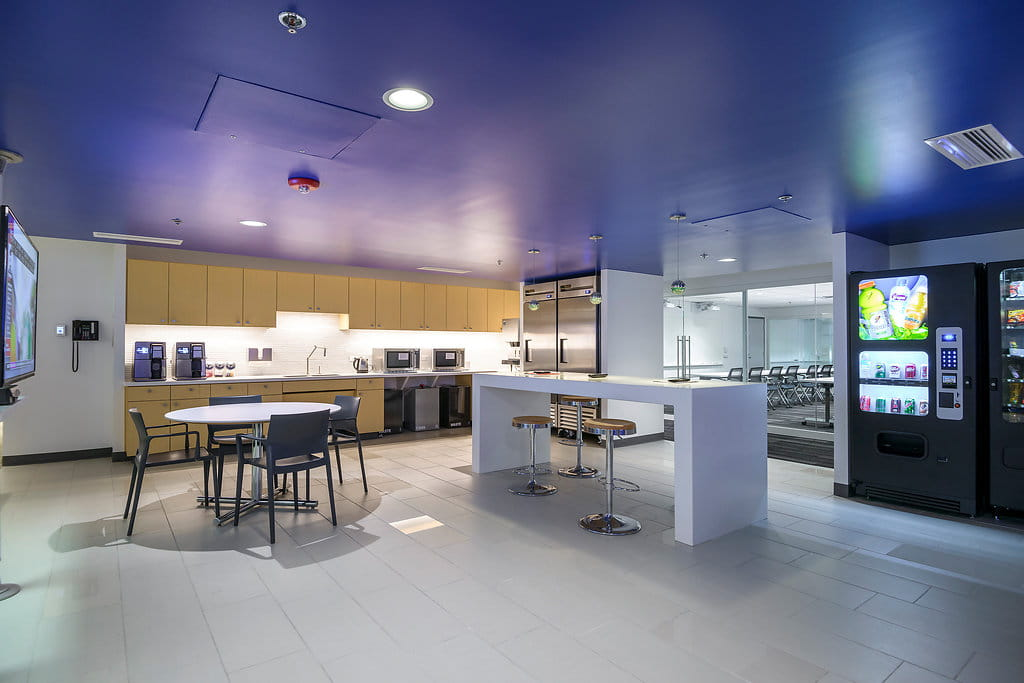 fsb architectural engineers office renovation break room bentley