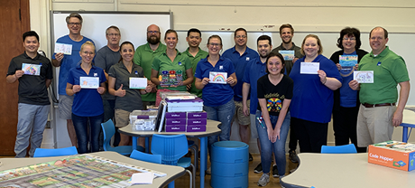 FSB employees volunteering at Adelaide Lee Elementary School in Oklahoma City