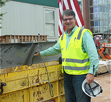 CEO Gary James visiting a job site