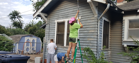 FSB employees volunteering with Rebuilding Together