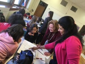 FSB employees volunteering with the Girls STEM Club at Adelaide Lee Elementary School