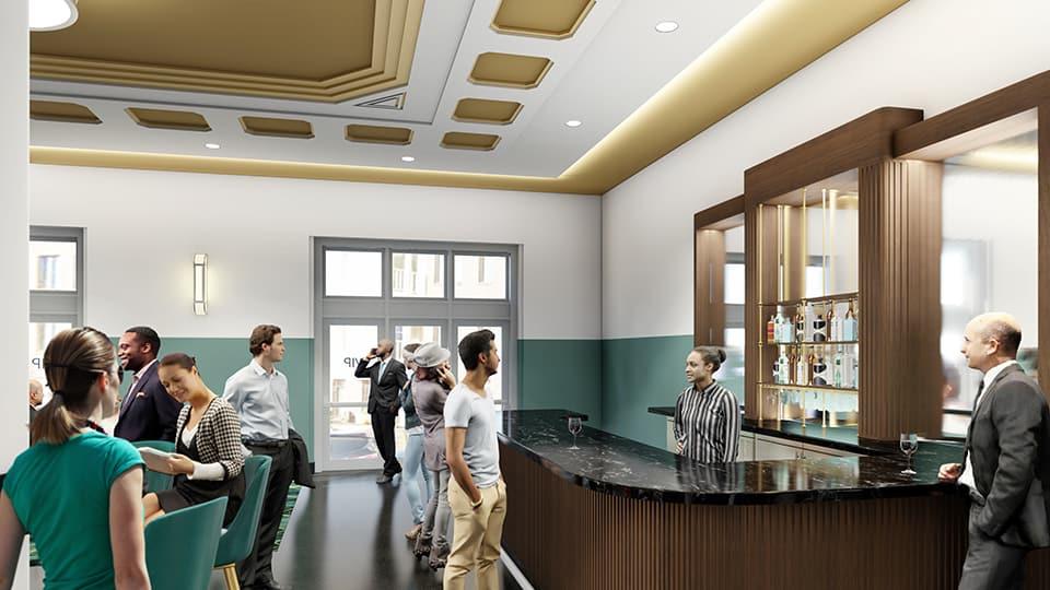 Rendering Civic Center Music Hall VIP Lobby