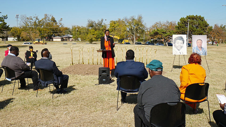 The groundbreaking ceremony for Willa D. Johnson Recreation Center at Douglass Park in Oklahoma City